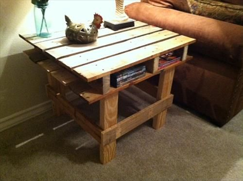 Wooden Pallet End Tables | Pallets Furniture Designs