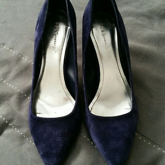 Blue suede pumps BCBG Generation, navy blue, suede pumps. BCBGeneration Shoes Heels