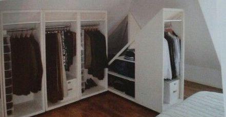 Under eves storage design pinterest inspiratie zolderruimtes en opslag - Opslag voor dressing ...