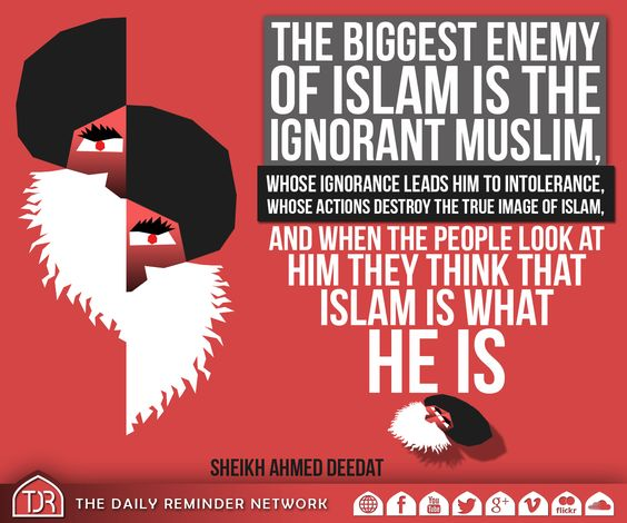 Image result for aHMED dEEDAT HIS QUOTES ABOUT iSLAMIC IGNORANCE