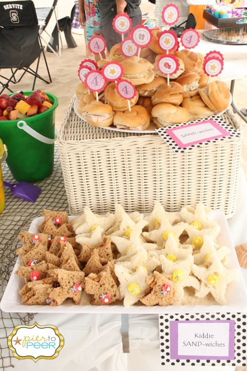 starfish beach snacks the star parties beach theme parties ocean party ...