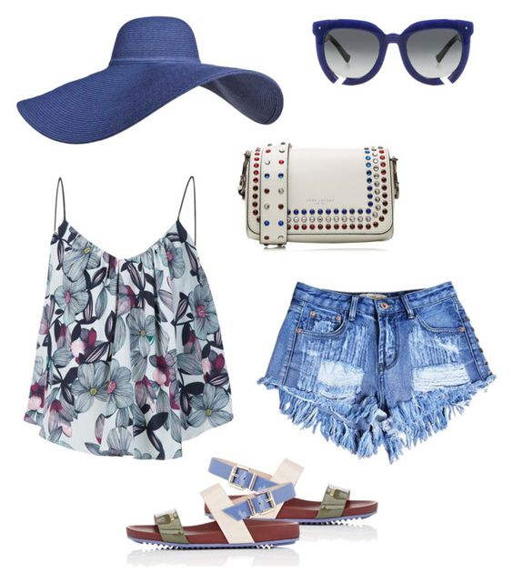 Summer day by aakiegera on Polyvore featuring polyvore, fashion, style, Sam&Lavi, Fendi, Marc Jacobs, Grey Ant and clothing