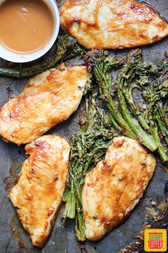 Quick Chicken & Baby Broccoli with Spicy Peanut Sauce #WeekdaySupper - Provided by Family Foodie