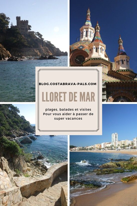 Carte Lloret De Mar Costa Brava Super Vacances Lloret De Mar
