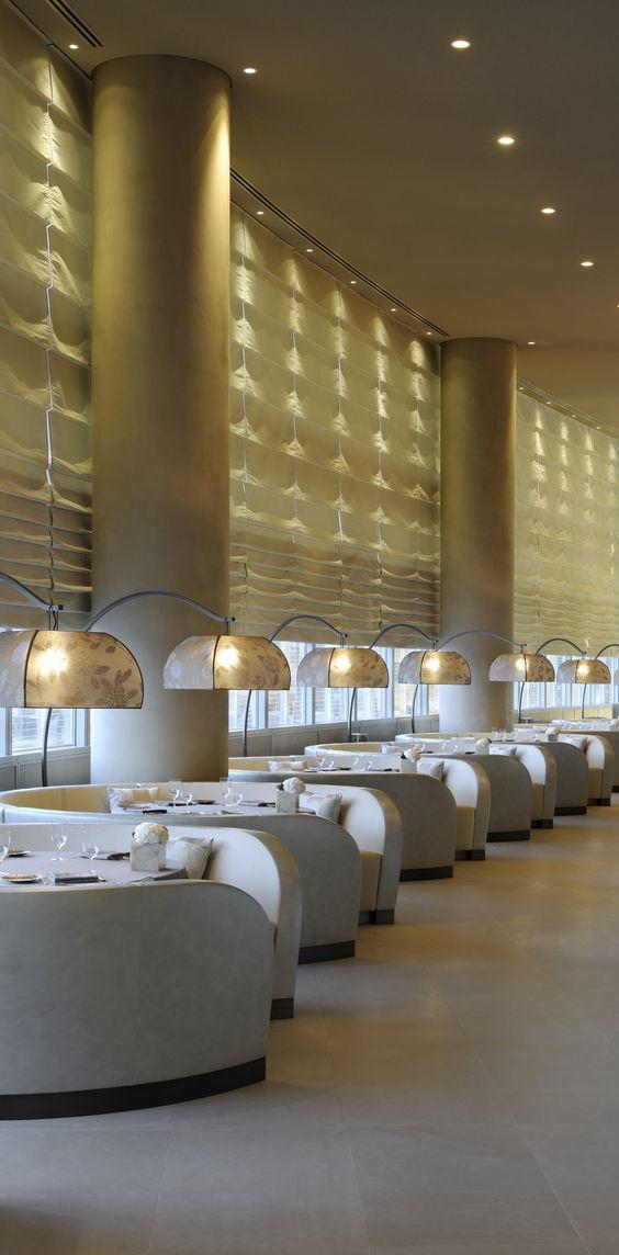 MODERN RESTAURANT DECOR | Armani Hotel Dubai | bocadolobo.com | #luxuryhotels #besthotels:
