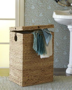 Find a laundry hamper pretty enough to set out in the open for Pier one laundry hamper