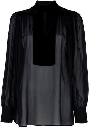 sheer Gucci blouse