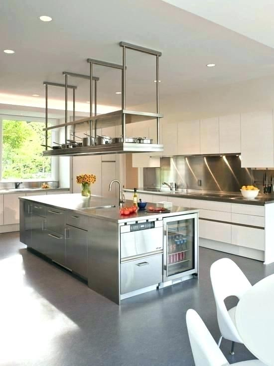 Charming Hanging Kitchen Shelf Hang Cabinet From Ceiling Google Restaurant Shelving Suspended Open Glass Kitchen Decor Styles Kitchen Decor Modern Kitchen Tech