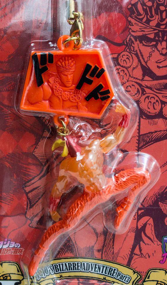 JoJo's Bizarre Adventure Magicians Red Mohammand Avdol Mobile Strap JAPAN ANIME