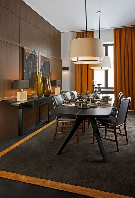 Modern Dining Room Sets For Your Home Design The Rich Narrow Table And Din
