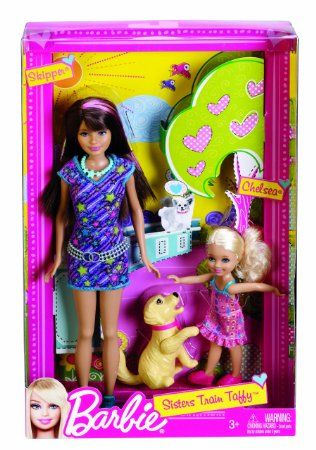 Amazon.com: Barbie Sisters Train Taffy Skipper and Chelsea Doll 2-Pack: Toys & Games
