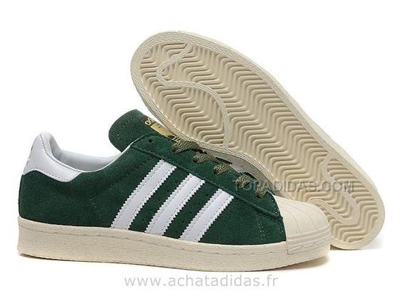 best deals on 49dd6 63a96 authentic find adidas originals superstar dlx su cuir vert blanc adidas  superstar homme online or in