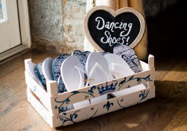 Wedding Flip Flop Basket - Dancing Shoes