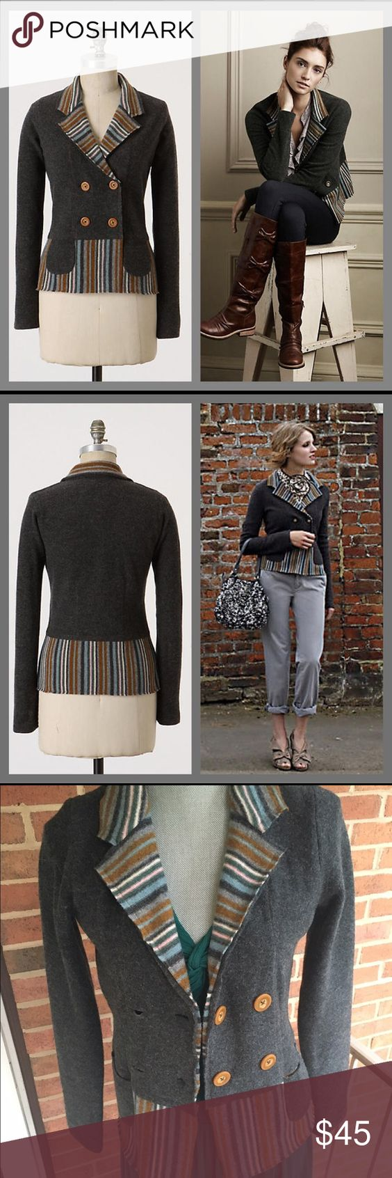 Anthro In the Lines Cardigan VGUC some loose threads. By sparrow. Anthropologie Sweaters Cardigans
