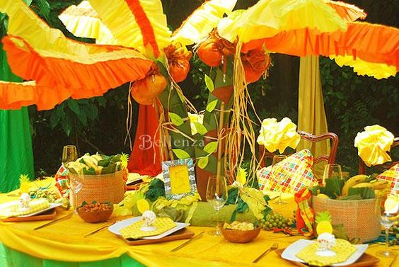 Caribbean Theme Party Ideas On Pinterest: DIY Coconut Tree Centerpiece