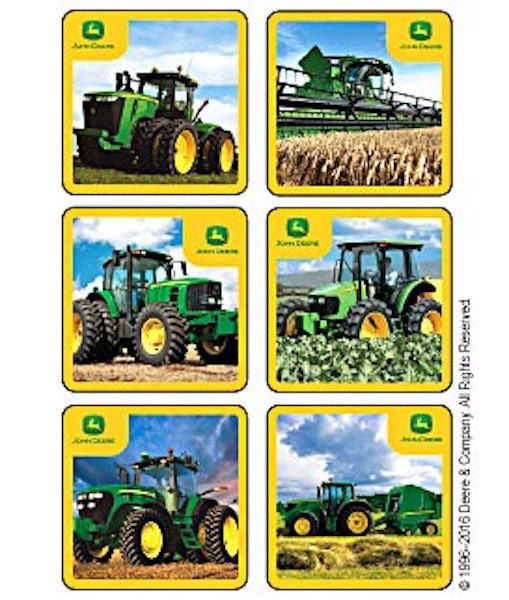FREE SHIP 18 John Deere Tractor Stickers by PlayingWithColor2