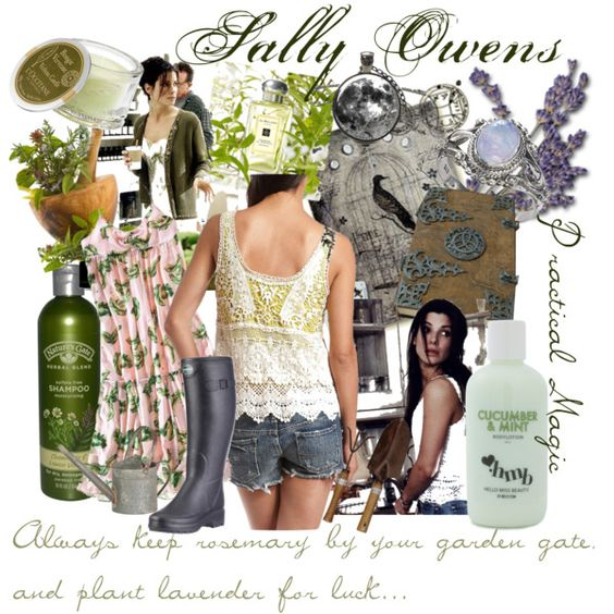 Practical Magic Set - Sally Owens by justina-marie-1 on Polyvore