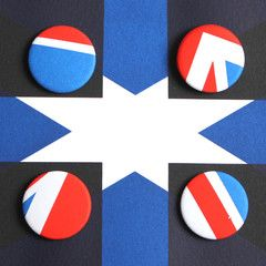 Flagge Haus Badges