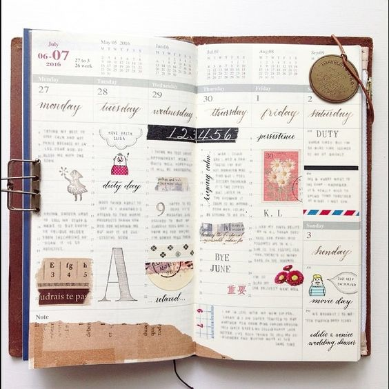 'Happy' notebook // Week 26 // I hope you all have a super day today!