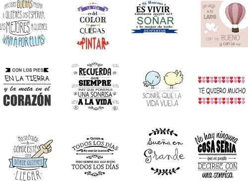 Etiquetas para frascos frases decoracion wall stickers for Espejos para pegar