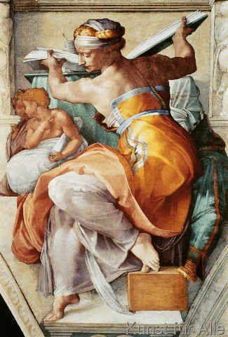 Michelangelo Buonarroti - Die libysche Sibylle