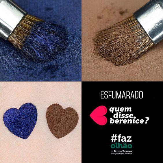 Azulês – sombra holográfica da coleção #FAZOLHÃO da quem disse, berenice? por Bruna Tavares