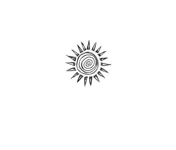 Simple Sun Drawing Black And White Google Search Small Shoulder Tattoos Tattoos Creative Tattoos
