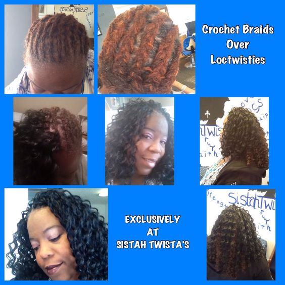Crochet Hair Over Locs : Crochet Braids over Locs Styles by Sistah Twista Pinterest ...