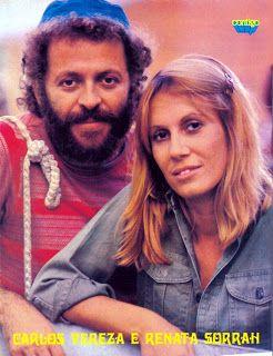 Carlos Vereza com Renata na novela Cavalo de Aço