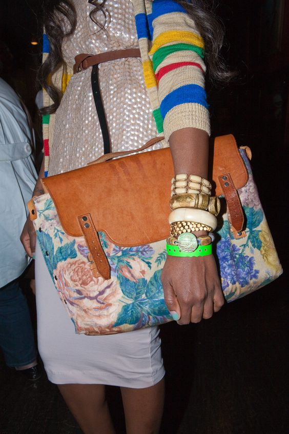 Desiree Venn Frederic, founder of Fashion Empowering Women, vintage bag. Photographed by Denisio Truitt