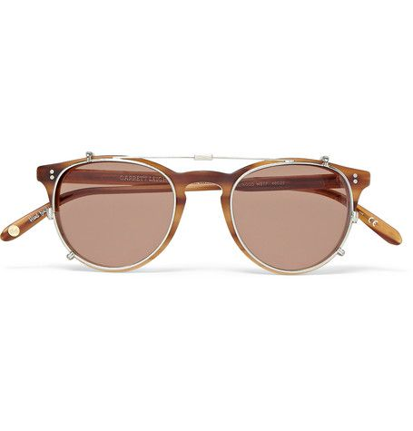 Garrett Leight California Optical - Milwood Tortoiseshell Acetate  Optical Glasses with Clip-On UV Lense: