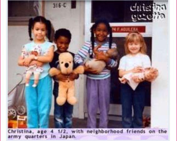 Christina Aguilera (far right)
