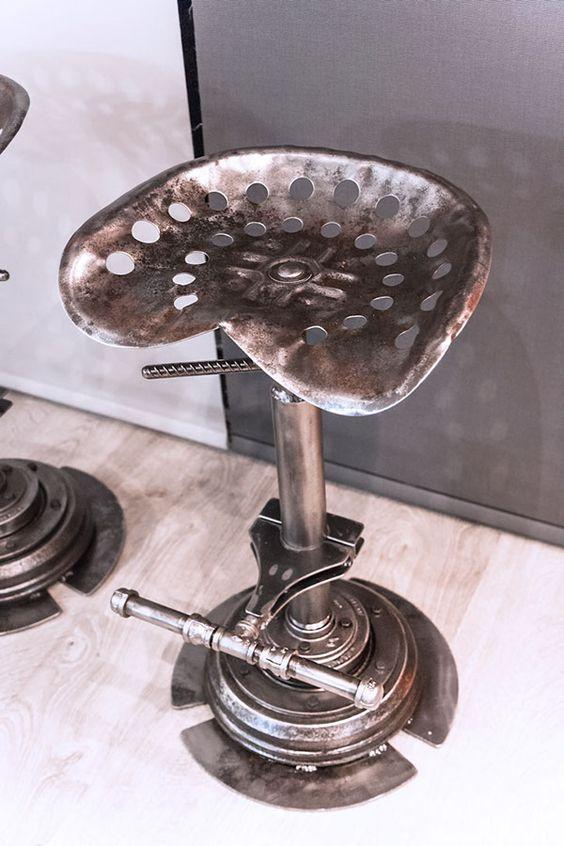 Tabouret industriel en acier fabrication de produits m talliques pinterest - Tabouret bidon d huile ...