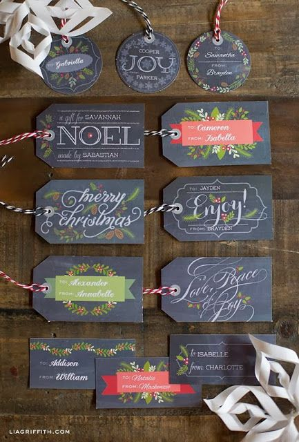 [kreyv]:[in five]: Free Christmas Gift Tag Printables