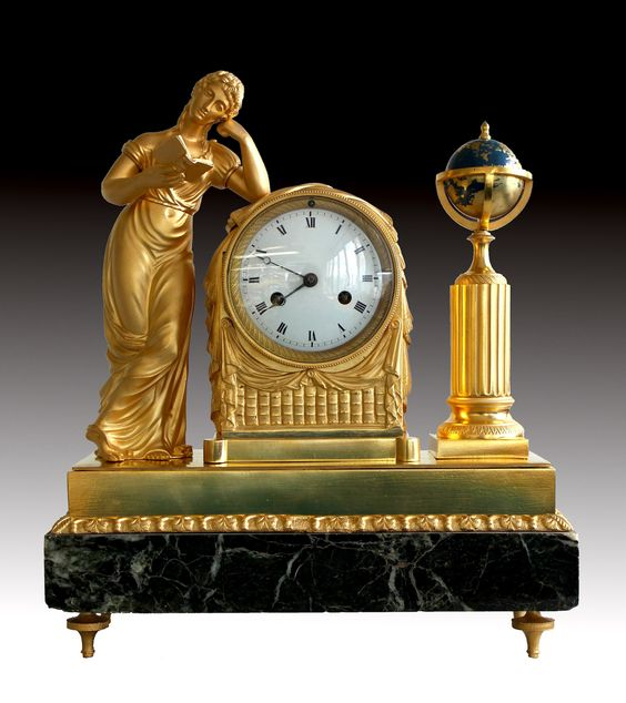 pendule empire la liseuse j a reiche france ca 1810 pendule empire pinterest. Black Bedroom Furniture Sets. Home Design Ideas