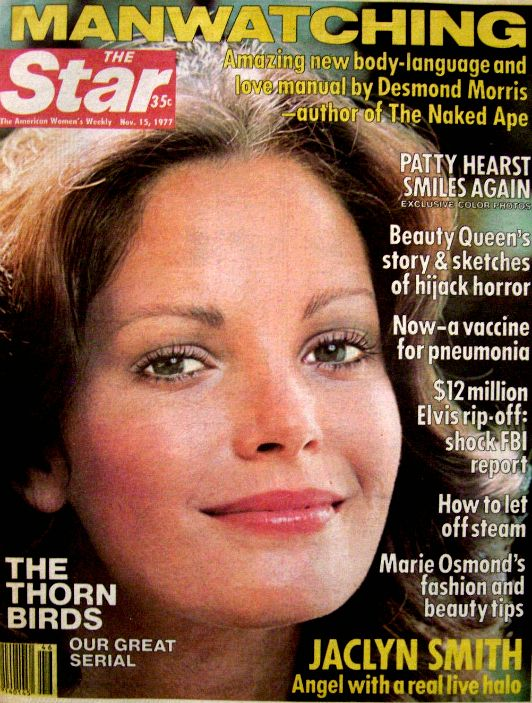 Jaclyn on the cover of The Star, November 15, 1977.