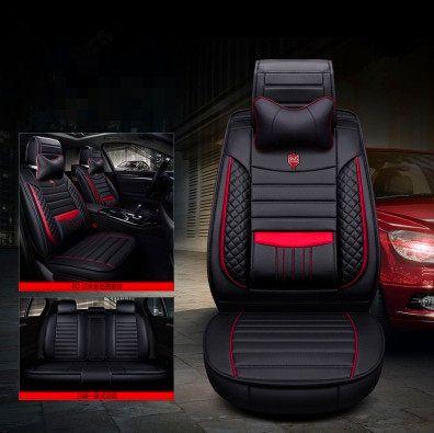 universal Negro de color rojo v333972/| coche Tuning Asiento Auto accesorios Interior Auto Fundas de asiento Juego de asientos delantero de asiento Fundas de asiento K-Maniac