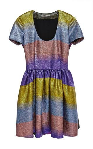 Short sleeve lurex dress by MARCO DE VINCENZO for Preorder on Moda Operandi: