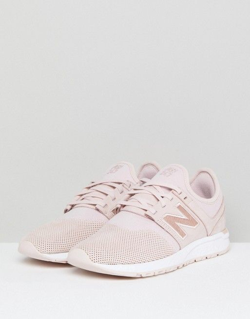 New Balance 247 Luxe Trainers In Pink Nubuck | Wish list