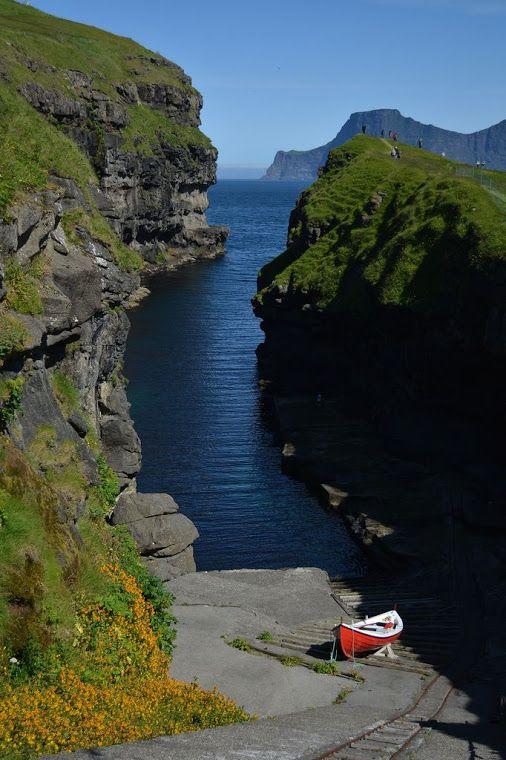 Gjogv, Ilhas Faroe.