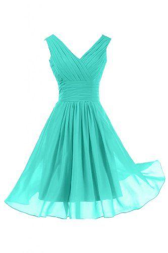 Sunvary Elegant V Neckline Chiffon Cocktail Party Dresses Bridesmaid Dresses Short - US Size 2- Turquoise Blue Sunvary http://www.amazon.com/dp/B00CCWRX4U/ref=cm_sw_r_pi_dp_RsA2tb0XX82N6MSQ