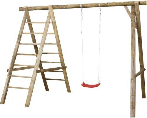 Einzelschaukel Holz Mit Leiter Natur Bei Hornbach Kaufen Einzelschaukel Schaukel Holz