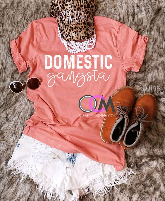 Domestic Gangsta T-shirt, Mom Shirt, Gift for Mom, Mom Boss, Mother Hustler, Mother's Day Gift, Funny Shirts, Funny Shirt 22.99