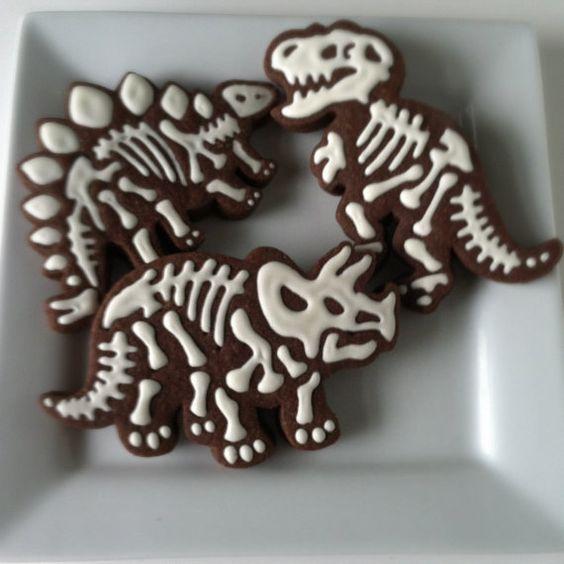 Dinosaur Fossil Cookies Dinosaur Party Pinterest