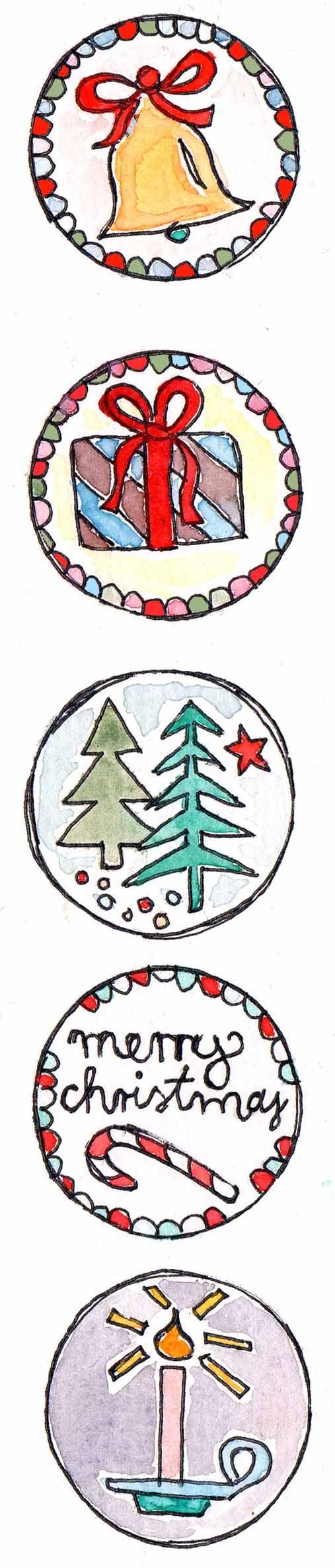 FREEBIE Geschenkanhänger Weihnachten