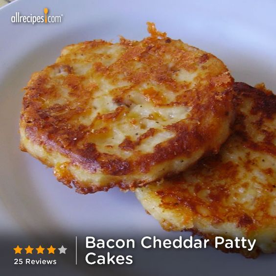 "Bacon Cheddar Patty Cakes | ""Leftover mashed potatoes join ..."