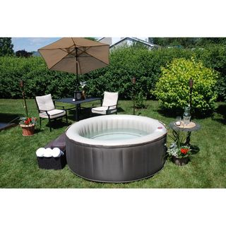Theraspa 4 Person Inflatable Portable Hot Tub Spa By