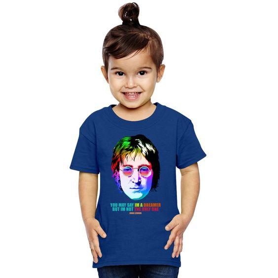 John Lennon Imagine Retro I'm A Dreamer Toddler T-shirt