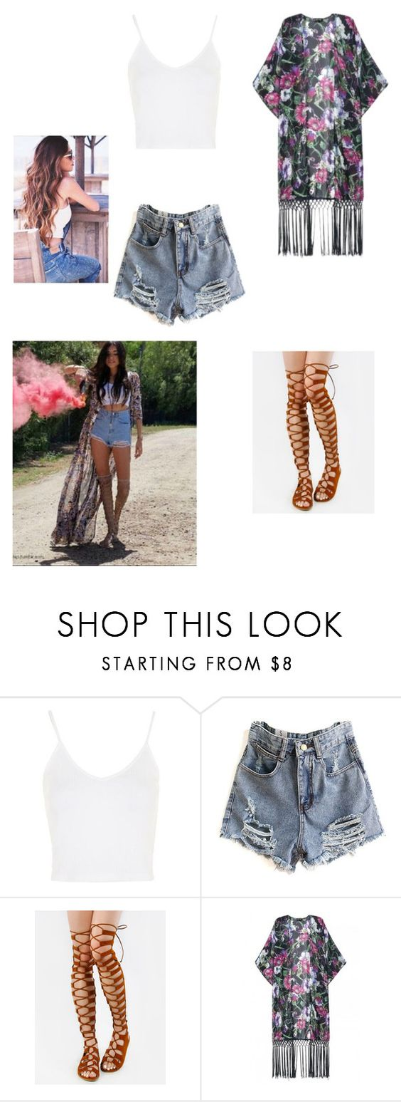 """""""Madison inspired look"""" by xxxpinklipsxxx ❤ liked on Polyvore featuring Topshop and WithChic"""