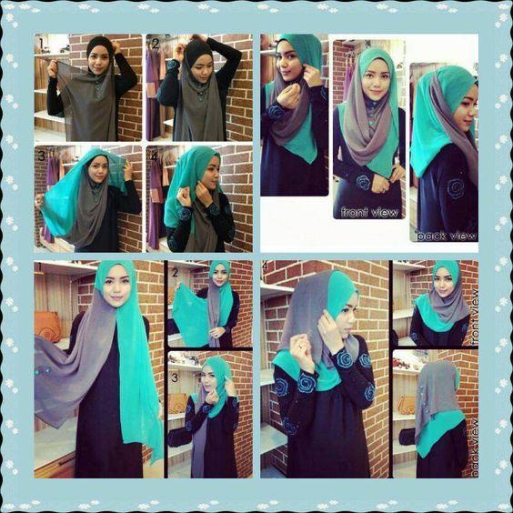 button #shawl #hijab #tutorial   Hijab styles   Pinterest   Hijab ...